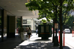 Kiosk at 5th and Pine